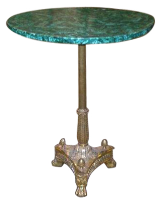 Russian Malachite and Gilt Bronze 19th Century Side Table Gueridon