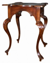 19th Century Baroque Carved Mahogany Side Table SOLD