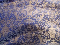 Lee Jofa French Cotton Damask Chinoiserie Blue SOLD