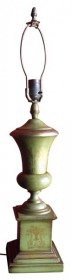 Classical French 19th Century Tole Urn Lamp Base