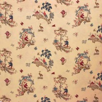 Lee Jofa French Glazed Cotton Chinoiserie SOLD