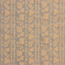 Lee Jofa Silk Romantic Floral Stripe Blue Gold