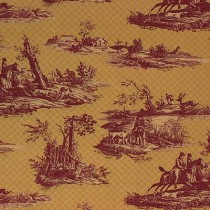 Lee Jofa Cotton Toile Equestrian Dogs