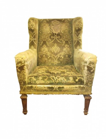 19th Century Pair Similar Wing Chairs