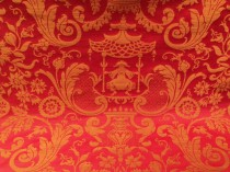 French Lee Jofa Cathay Garden Lacquer Red SOLD
