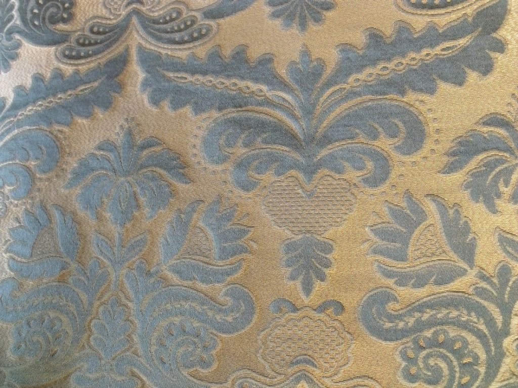 Sage Green Sofa Italian Linen Silk Damask Upholstery Fabric Sage SOLD: Au ...