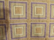 Kravet Cotton Rayon Gold Purple Art Deco Modern Squares Upholstery