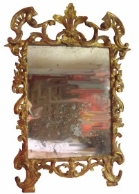 French Regence Early 18th Century Carved Gilt Mirror