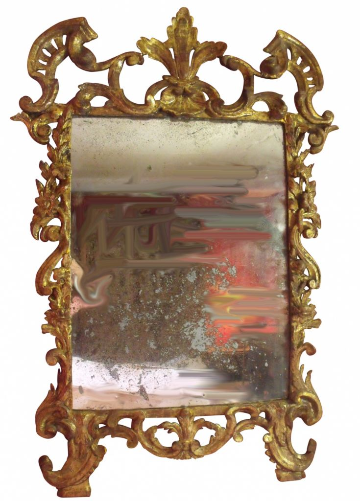 French Regence Early 18th Century Carved Gilt Mirror Au