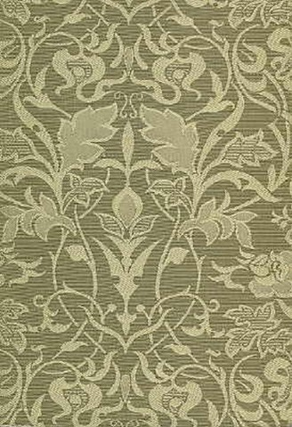 Art Nouveau Arts and Crafts Floral Beige on Green or Taupe