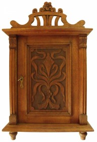 1900 Dutch Carved Art Nouveau Hanging Cupboard SOLD
