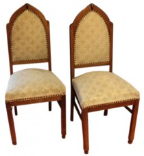 HOLD Set of Four Amsterdamse School Dining Room Chairs