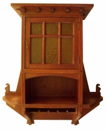 Circa 1910 Jugendstil Oak Wall Hanging Cabinet SOLD