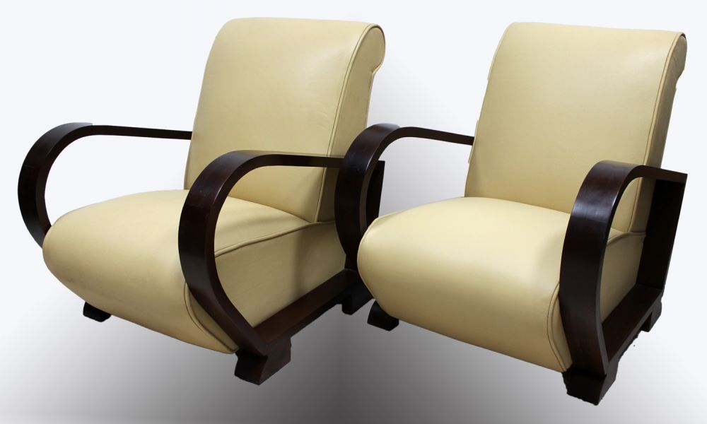 ... Art Deco Armchairs French 1920s Leather. Thumbnail · Thumbnail