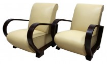 Coming Soon - Pair Art Deco Armchairs French 1920s Leather