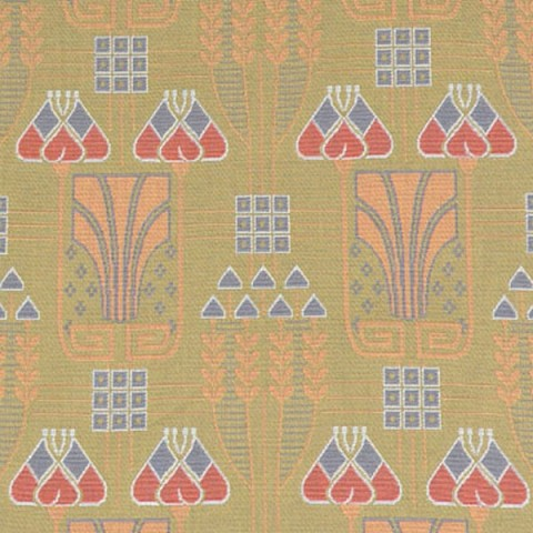 SOLD Brunschwig & Fils Secessionist Alexander Olive Peach