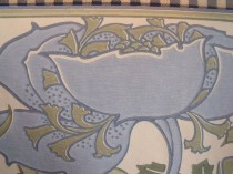 "Art Nouveau Poppy & Bellflower Border 7"" Blue Duro of Sweden"