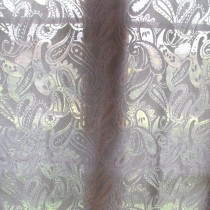 "SOLD Scottish Cotton Madras Paisley Lace Curtain 68"" wide"
