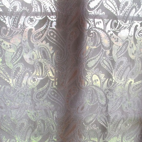"""SOLD Scottish Cotton Madras Paisley Lace Curtain 68"""" wide"""
