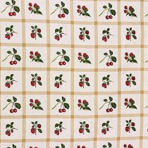 Lee Jofa Hewlett Plaid Parchment Embroidery Berries
