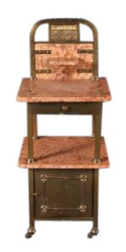 Coming Soon Circa 1900 Marble Brass Washstand