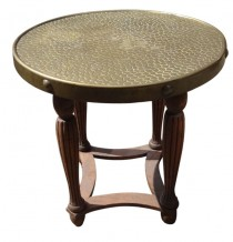 Coming Soon Round Art Deco Brass Top Table Stand