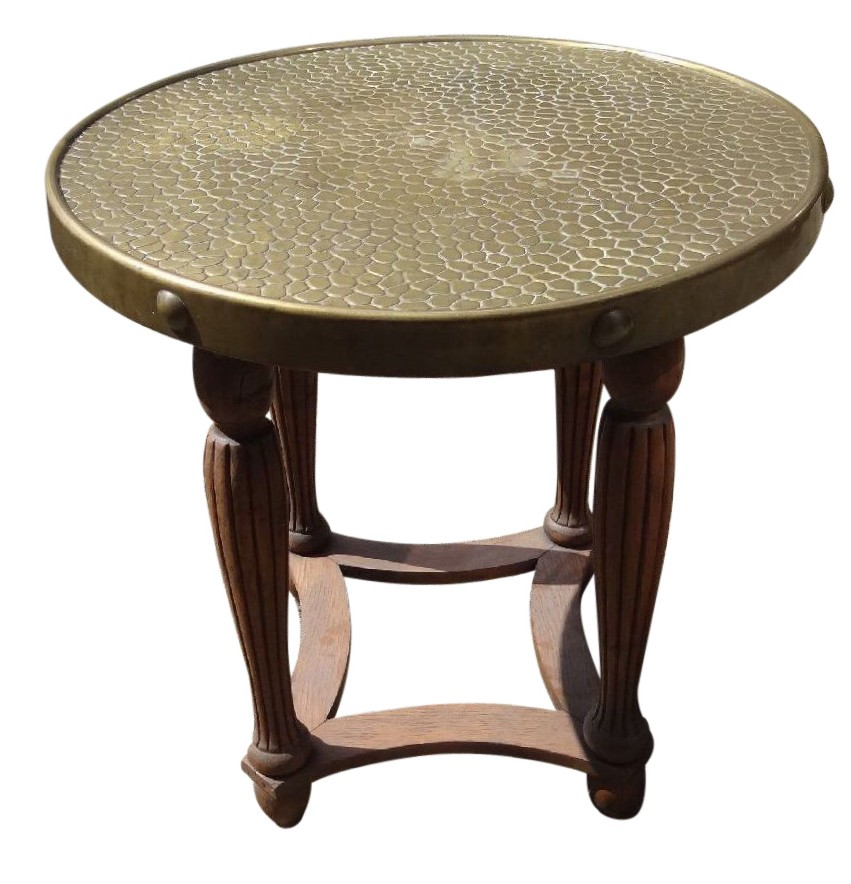 Coming Soon Round Art Deco Brass Top Table Stand. Thumbnail; Thumbnail;  Thumbnail; Thumbnail