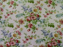 Mulberry England Summer's Flower Floral Print Cream or Pistachio