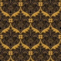 FLEUR DE LYS COLE & SONS Wallpaper Black
