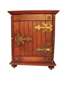 SOLD 1900 Arts and Crafts Jugendstil Small Cabinet