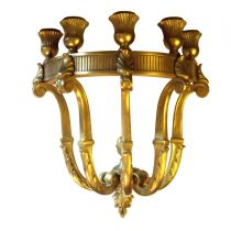 SOLD Large Massive Bronze Art Deco Sconces