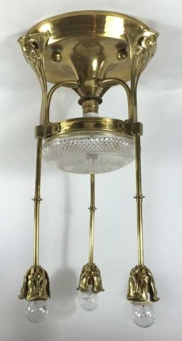 Coming Soon Brass Jugendstil Ceiling Light