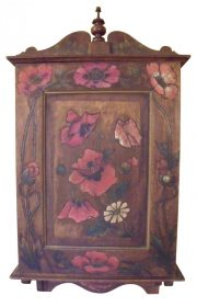 SOLD Circa 1900 Poppy Small Cupboard Cabinet Art Nouveau