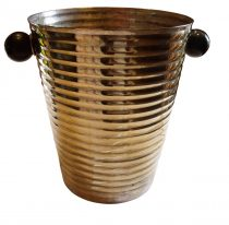 SOLD Art Deco Champagne Bucket Silver Plated Brass Bakelite Beehive