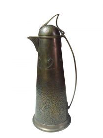 SOLD Carl Deffner Eislingen Brass Carafe Decanter Art Nouveau Jugendstil 1900