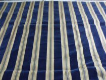 2.75y Lee Jofa French Cotton La Duree Cotton Velvet Ticking Stripe Navy Blue