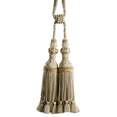 100% Silk Double Tassel Tiebacks Ivory only 2 left!