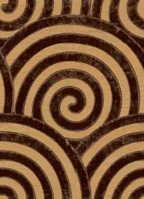 Art Deco Moderne Sublime Style Silk Velvet Cocoa Brown