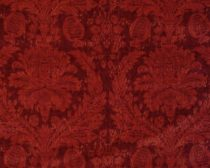 Lee Jofa Cotton Marot Velvet Damask Ruby Red