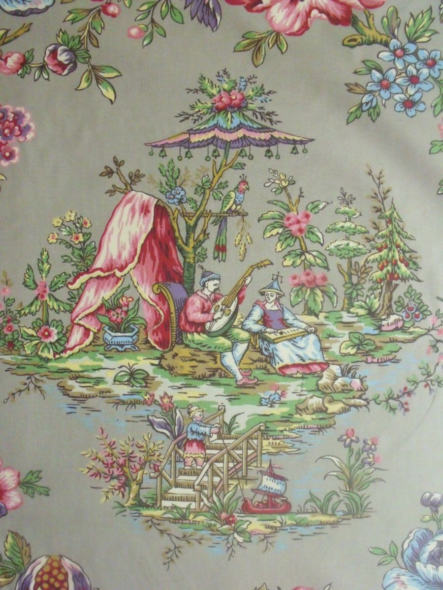 Lee Jofa Yangtze Print Chinoiserie Cotton