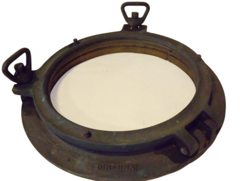 SOLD 17 Inch WWII German Bronze Porthole Maritime Nautical Ship Fully Functional