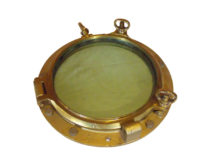 "SOLD Swedish Vintage Bronze Porthole Maritime Nautical Ship 19"" Diameter"
