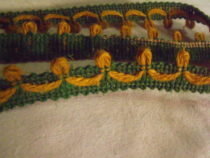 12 Yards Vintage French Lyon Gimp Trim Wool Green Gold