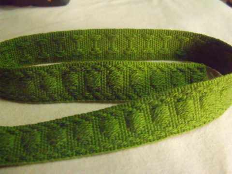 22 Yards Vintage French Lyon Gimp Trim Green Pear