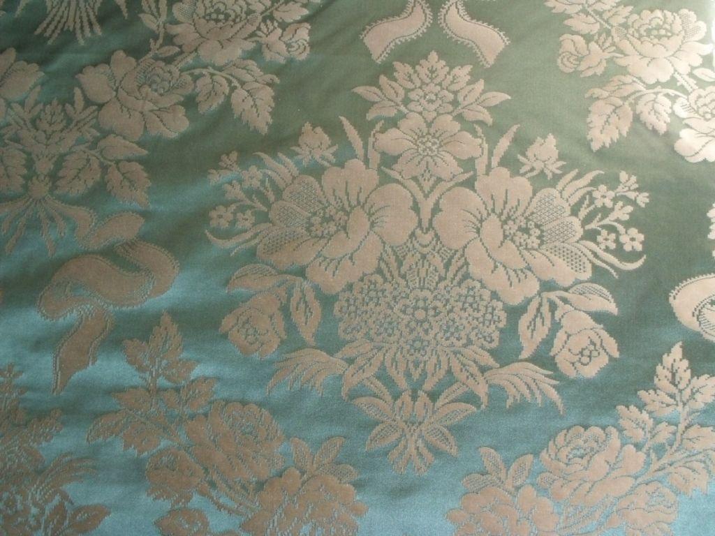 Cotton And Silk Damask Lee Jofa Italy Tarragon Sold Au