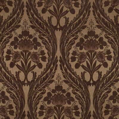 Kravet Couture Art Nouveau Flowers Large 46 Quot Pattern Brown