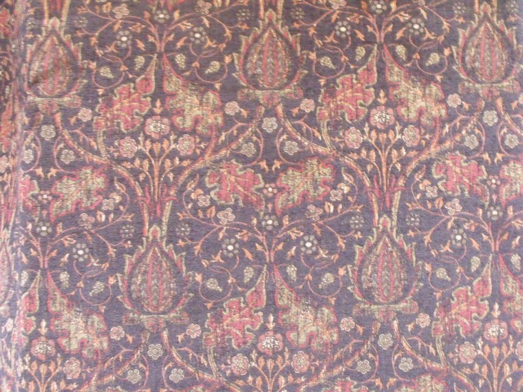 Sold Lee Lofa Raja Chenille Onyx Edwardian Art Nouveau Floral